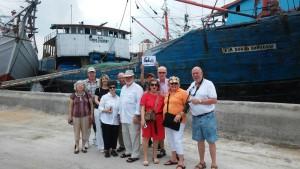 Cruise Ship Passenger visiting Sunda Kelapa Harbor Jakarta